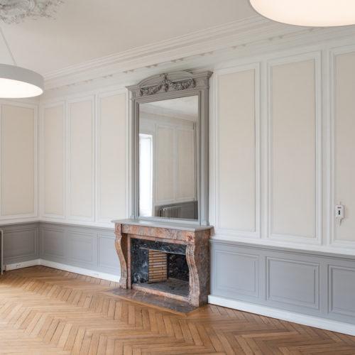 Tissu phonique dans demeure de style